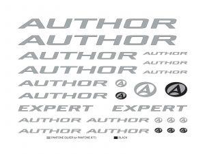 AUTHOR Samolepky na rám Expert (na lak) 2016 průhledná Author