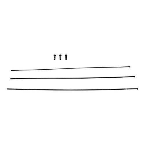 "SPOKES & NIPPLES 3-PACK 298mm CX-RAY STRAIGHT-PULL EXTERNAL BLACK - RISE 60 (B1) 29"" SRAM"