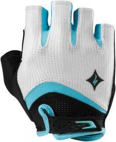 rukavice Specialized BG GEL SF dámské WHT/LT TEAL XL