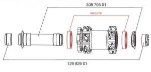 MAVIC FRONT HUB BEARING KIT 20mm AXLE (M40179) Množ. Uni