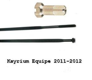 MAVIC KIT 10 NDS KSYRIUM EQUIPE 11/EQUIPE S BLK SPK 301mm  (12031401) Množ. Uni