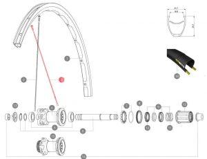 MAVIC KIT 12 FT/NDS KSYRIUM DISC FLAT SPOKE 291mm (LV3660400) Množ. Uni