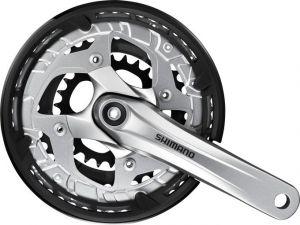 SHIMANO kliky ALIVIO FC-T4010-T oktalink 3x9 175 mm 48x36x26z s krytem stříbrné