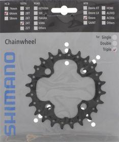 SHIMANO převodník MTB/Trekking-ostatní 24 z 10 spd trojpřevodník AE pro 42-32-24 z černý