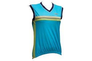 SHIMANO dres dámský bez rukávů, modrá/žlutá, L