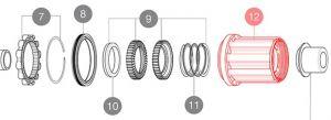 MAVIC HG9 STEEL MTB FREEWHEEL BODY ID360 (LV3790100) Množ. Uni