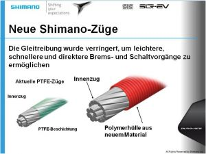 SHIMANO brzdové lanko DURA-ACE BC-9000 silniční 1000 mm 800 mm nerzez ocel/PFA přední černá