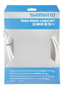 SHIMANO brzdový set s povlakem PTFE, 800/1400mm, 1,6mm x 1000/2050 mm, bílý