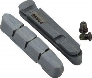 SHIMANO destičky pro kazetový typ brzdových špalíků R55C4 pro karbonový ráfek, silniční, 2 páry