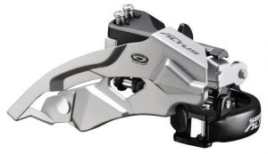 SHIMANO přesmykač ALTUS FD-M370 MTB pro 3x9 obj 31,8 Top-swing dual pull 44/48 z