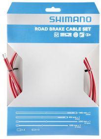 SHIMANO silniční brzdový set 800/1400 mm + 1000/2050 mm červená