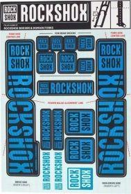 11.4318.003.520 - ROCKSHOX DECAL KIT 35MM DC WATER  BLU Množ. Uni