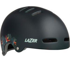 LAZER přilba Armor CE/ matná zelená flowers L + led