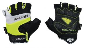 rukavice FORCE RAB gel, fluo M