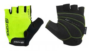 rukavice FORCE TERRY, fluo XL