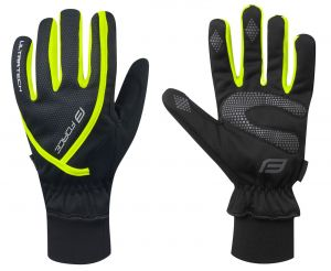 rukavice zimní FORCE ULTRA TECH, fluo L