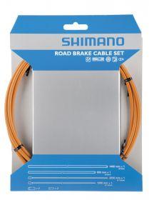SHIMANO brzd set pro sil SIL-TEC z nerez oceli lan: 2000mm + 2050mm bow: SLR 1400+800 mm oranžový