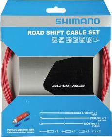 SHIMANO set OT-SP41 s polymerovým povlakem červený