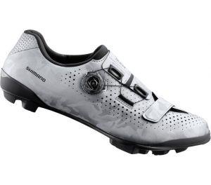 SHIMANO gravel obuv SH-RX800MS, stříbrná, 45