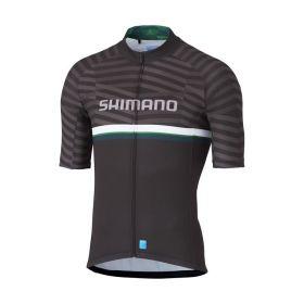 SHIMANO TEAM dres, černý/zelený, L