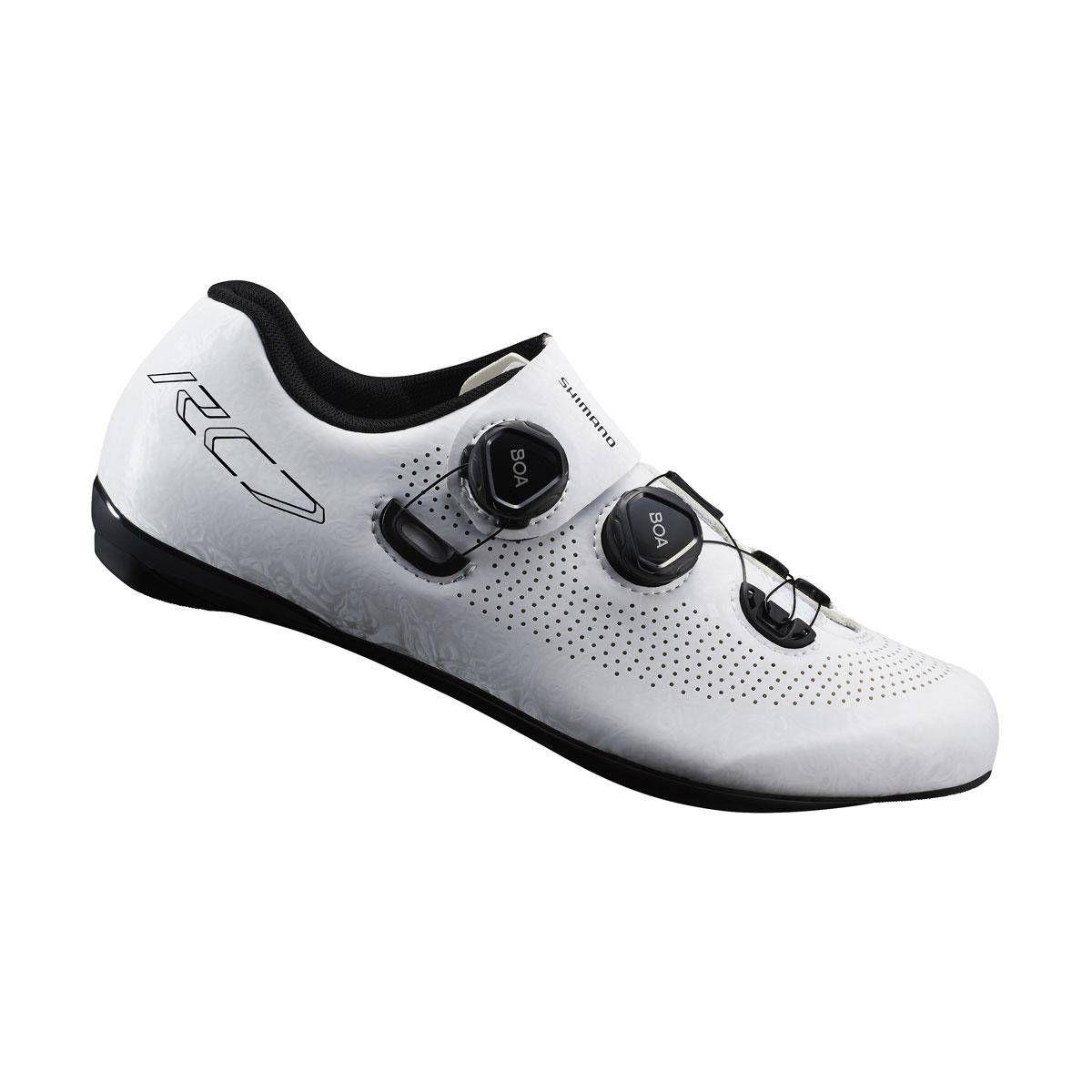 SHIMANO silniční obuv SH-RC701MW, bílá, 42, širší provedení
