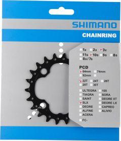 SHIMANO převodník MTB/Trekking-ostatní 22 z 10 spd trojpřevodník pro 40-30-22 z