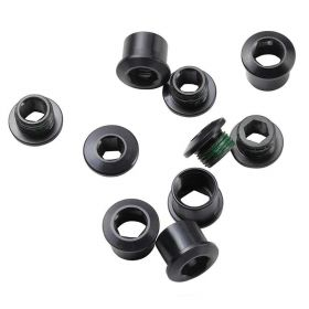CRANK CHAINRING BOLT KIT 4-ARM STEEL/STEEL BLACK INCLUDING SET BOLT AND NUTS EAGLE EMTB