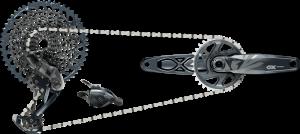 Sada SRAM GX Eagle DUB, Lunar (přehazovačka,  páčka s objímkou, kliky DUB 12s 175 BOOST s