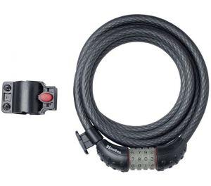 MasterLock kabelový zámek Quantum 12 mm x 1800 mm, kód, vinylový potah, černá