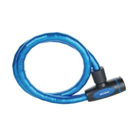 MasterLock spirálový kabelový zámek 18 mm x 1,000 mm, klíč, modrá (8228)