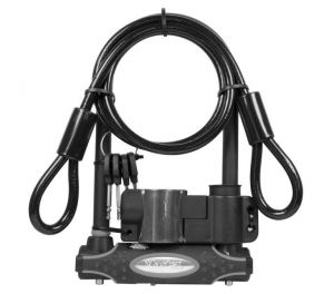 MasterLock zámek podkova, 13 mm x 210 mm x 110 mm / 10 mm x 1200 mm, klíč, černá (8274)