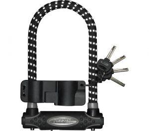 MasterLock zámek podkova, 13 mm x 210 mm x 110 mm, klíč, černá/reflexní (8195)