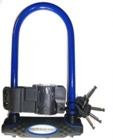 MasterLock zámek podkova, 13 mm x 210 mm x 110 mm, klíč, modrá (8195)