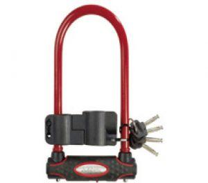 MasterLock zámek podkova, 13 mm x 280 mm x 110 mm, klíč, červená (8195)