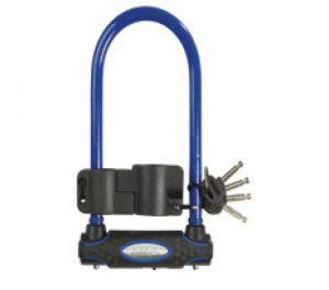 MasterLock zámek podkova, 13 mm x 280 mm x 110 mm, klíč, modrá (8195)