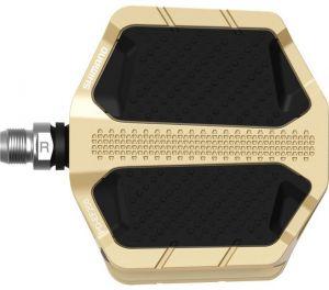 SHIMANO pedály MTB-ostatní PD-EF205 Flat pedály bez odrazek zlatá pro E-Bike/Trekking/Urban bal