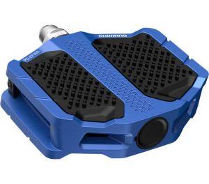 SHIMANO pedály MTB-ostatní PD-EF205 Flat pedály bez odrazek modrá pro E-Bike/Trekking/Urban bal