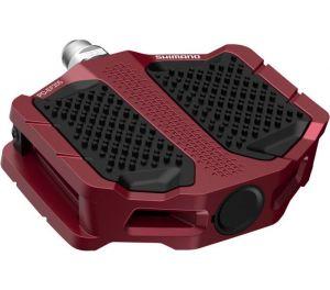 SHIMANO pedály MTB-ostatní PD-EF205 Flat pedály bez odrazek červená pro E-Bike/Trekking/Urban bal