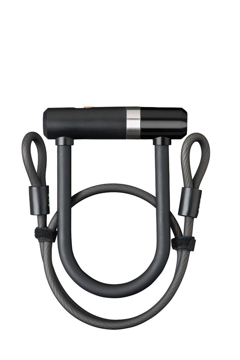 AXA zámek U pevný Newton U-Lock mini + kabel (100 cm / 10 mm)