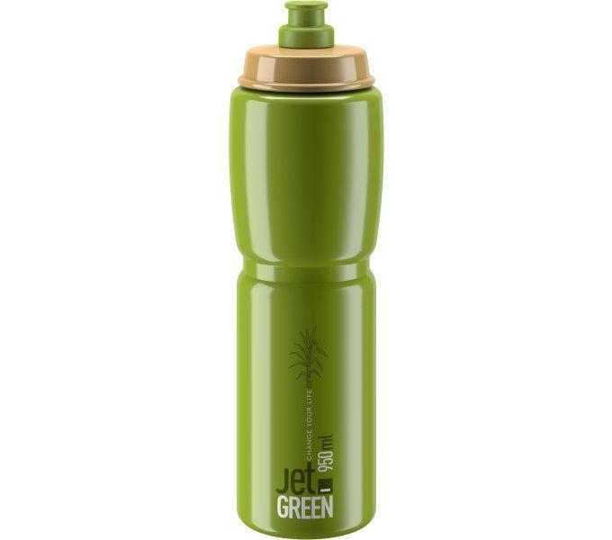 ELITE láhev JET GREEN 21' bílé logo 950 ml
