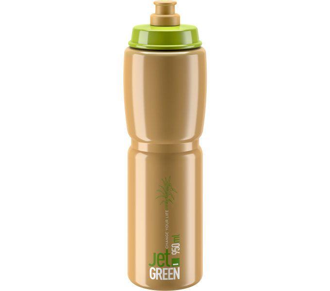 ELITE láhev JET GREEN 21' hnědá/bílé logo 950 ml