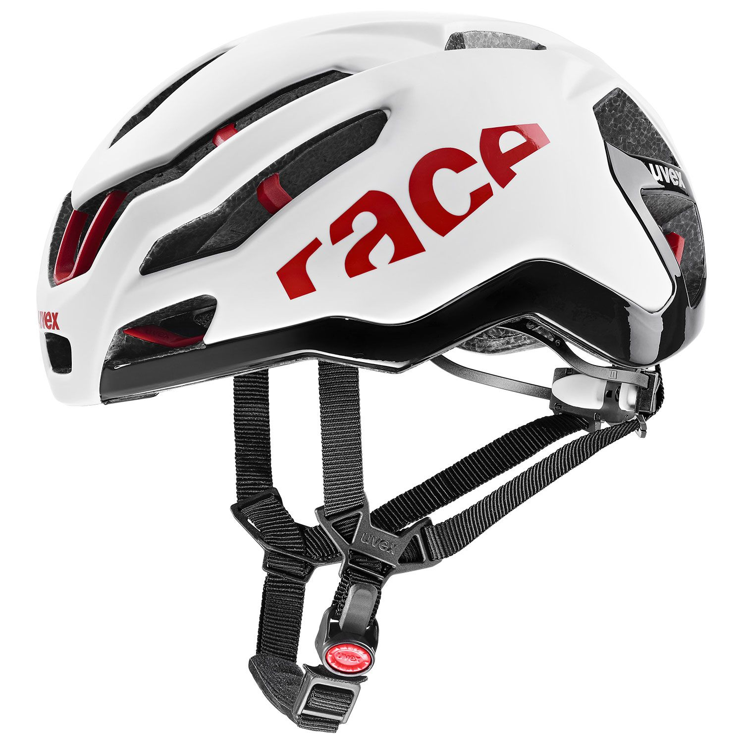 2021 UVEX HELMA RACE 9, WHITE - RED 53-57